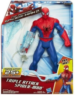 Funskool Marvel Amazing Spider-Man 2 Triple Attack Spider-Man 10 inches