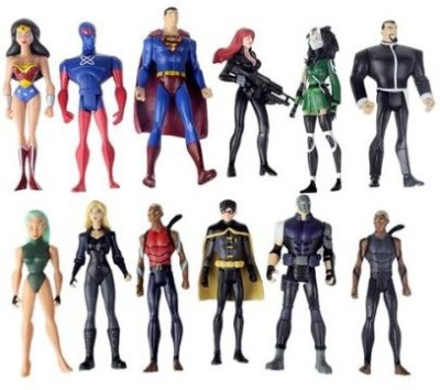 DC COMICS Set Of 12 Super Hero Young Justicefeaturing Supermanwonder