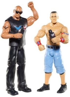 Mattel WWE Battle Pack: John Cena vs. The Rock Figure 2-Pack Series 15