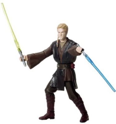 Star Wars ANAKIN SKYWALKER * HANGAR DUEL * Attack of the Clones 2002 Action Figure with Special Battle Feature & Accessories