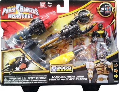 Power Rangers Land Brothers Zord Vehicle and Black Ranger