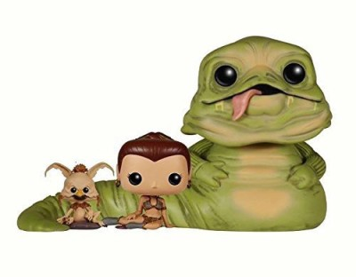 POP Star Wars Return of the Jedi Exclusive Jabba, Slave Leia & Salacious B. Crumb 3-Pack