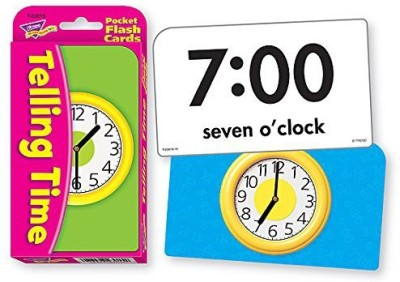 Trend Enterprises Inc Telling Time Pocket Flash Cards