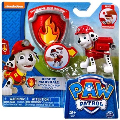 Spin Master Paw Patrol Pack Pup & Badge Rescue Marshall Set