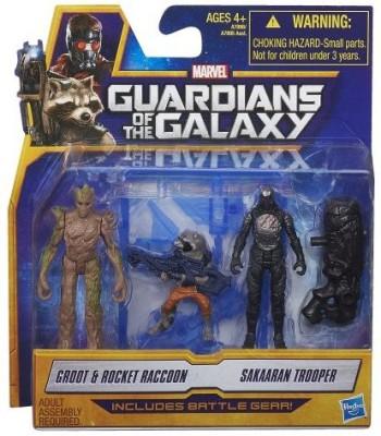 Marvel Guardians Of The Galaxy Grootrocket Raccoon And Sakaaran