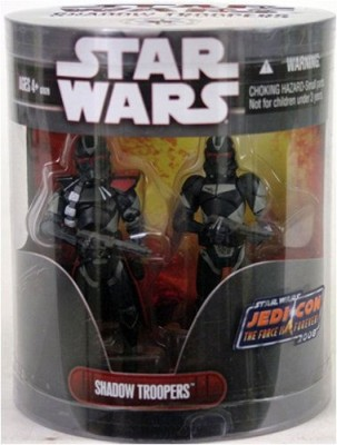 Star Wars Saga 2008 Jedi Con Exclusive Shadow Troopers