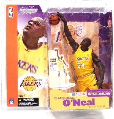 McFarlane's Sportspicks McFarlane Toys NBA Series 2 Shaquille O,Neal (Los Angeles Lakers) Yellow Jersey Action Figure
