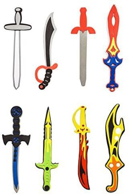 Super Z Outlet Assorted Foam Toy Swords for Children with Different Designs Including Ninja, Pirate, Warrior, and Viking (8 Pack) by Super Z Outlet®