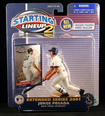 Starting Line Up Jorge Posada / New York Yankees 2001 Mlb Starting Lineup 2