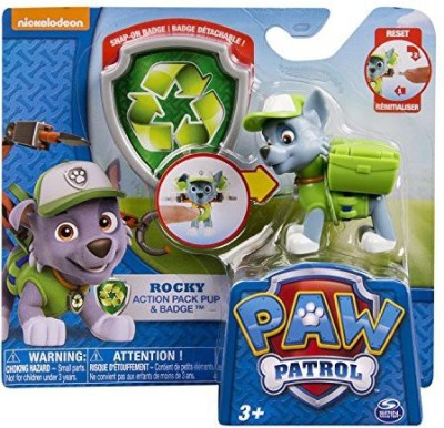 Spin Master Paw Patrol Pack Pup & Badge Set Of 4 Rockyzumachase & Rubble
