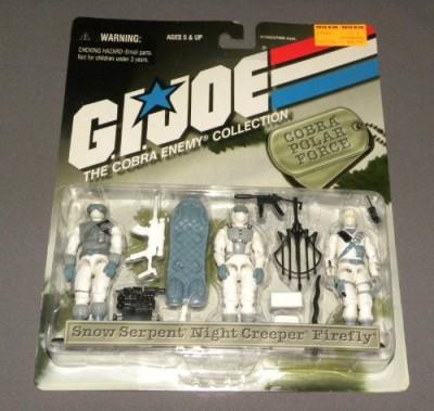 Hasbro Gi Joe The Cobra Enemy Collection Cobra Polar Force 3Pack