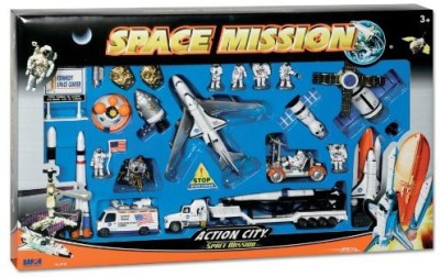 Daron Space Shuttle With Kennedy Space Center Sign 28 Piece