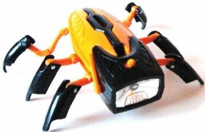 Promier Products transforming robot flashlight/black head/orange body