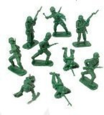 McToy DELUXE BAG OF CLASSIC TOY GREEN ARMY SOLDIERS - 36 Pc.