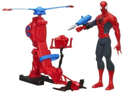 Spiderman Marvel Ultimate Titan Hero Series With Web Copter 12 Inches