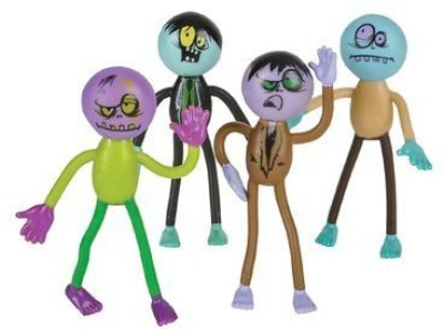 DOMAGRON Bendable Zombie Toys (Pack of 12)