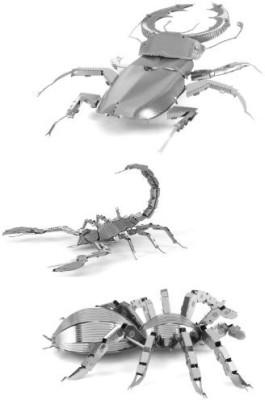 Fascinations Metal Earth 3D Laser Cut Steel Models Stag Beetlescorpion