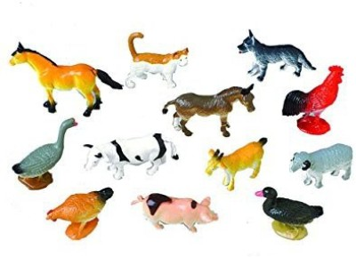 US Toy Mini Farm Animals (1 Dozen)