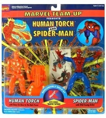 Marvel Team Up > Human Torch And Spiderman 2Pack