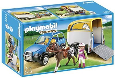 Playmobila SUV with Horse Trailer(Multicolor)