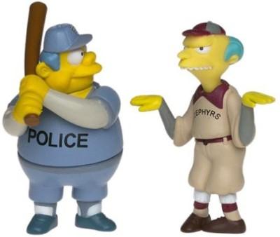 Playmates Simpsons Homer At The Bat Baseball Miniset