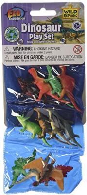 Wild Republic Triple Mini Dino Polybag Play Set Dinosaur Figurines Trex