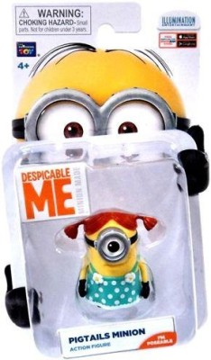 Unknown Despicable Me Minion Made Poseable 2 Inch Pigtails Minion
