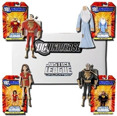 DC COMICS Universe Justice League Unlimited Exclusive Set of 4 Action Figures Shazam! Family