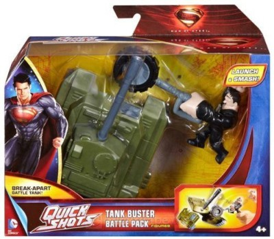 DC COMICS Superman Man Of Steel Quick Shots Launch & Attack Battle