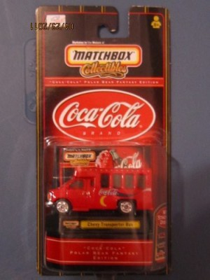 Matchbox Collectibles Cocacola Chevy Transporter Bus 164 Scale
