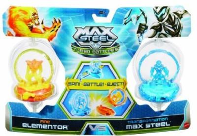 Max Steel Turbo Battlers Fire Elementor Vs Transformation 2Pack