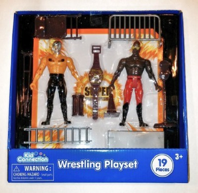 Kid Connection Wrestling Playset With 2 Articulated