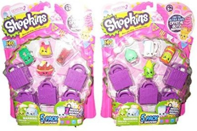 Shopkins S2 5 Pack Playset X 2 (10, 10 Shopping Bags)