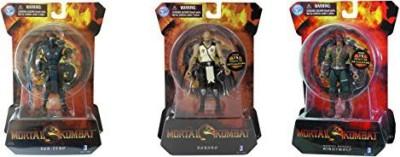 Jazwares Mortal Kombat Set Of 3 Subzerobaraka & Mortal Kombat Night