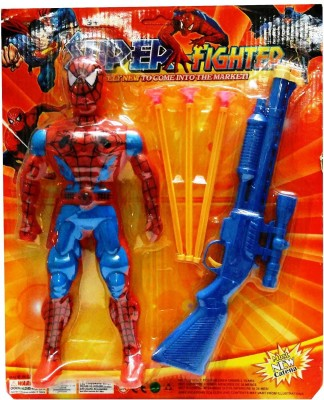 Turban Toys Spiderman Action Figure With A Dart Gun
