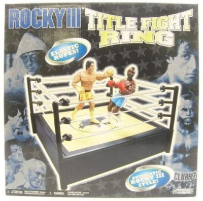 Jakks Pacific Rocky Iii Boxing Ring (Black And Yellowwhite Ropes)