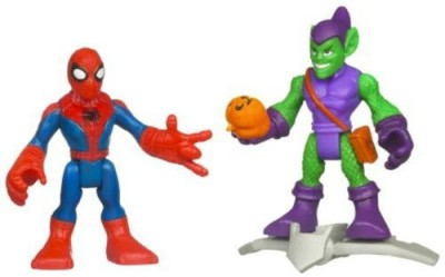Hasbro Marvel Super Hero Adventures Mini 2Pack Spiderman Green