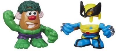 Mr Potato Head Playskool Mr. Potato Head Marvel Mixable Mashable Heroes as Hulk and Wolverine, 2-Inch