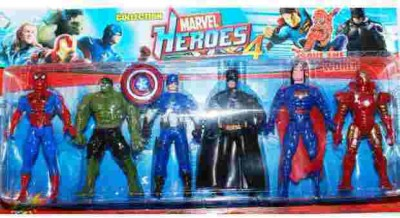 Turban Toys Super Hero Action Figure 6 in 1