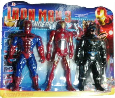 Shop & Shoppee Super Heroes 3 in 1 Figures