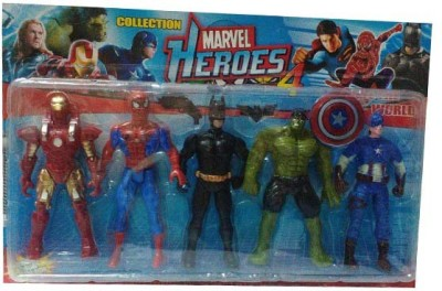 Turban Toys Super hero Action Fugure 5 in 1