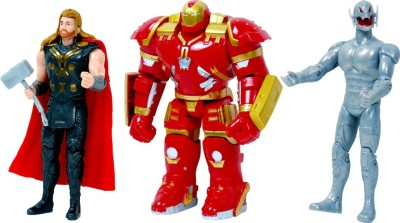 Montez The Avenger 3 In 1 Super Heros Set (Hulkbuster,Ultron,Thor)