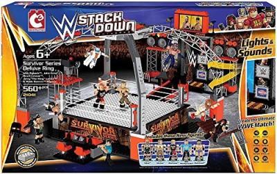 The Bridge Direct Survivor Series Deluxe Ring Set 21041 Wwe Stackdown