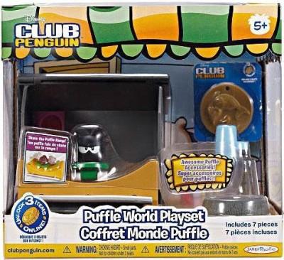 Jakks Pacific Club Penguin Black Puffle House With Skateboard Ramp Play