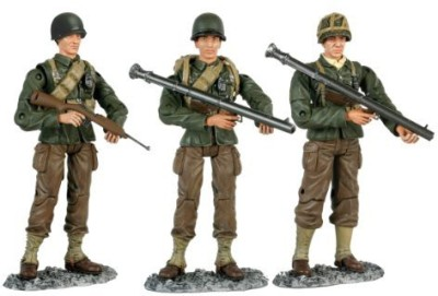 Bravo Team 118Th Scale Ww Ii Us Soldier 3Pack