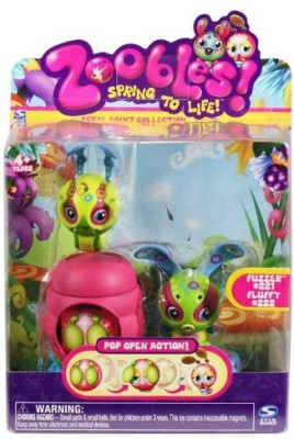 Spin Master Zoobles Twobles Caterpillar And Bunny + Hapitat