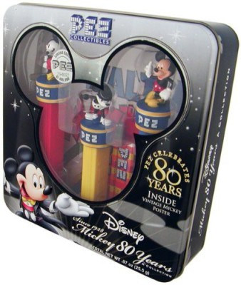 Pez Candy COLLECTIBLES--Mickey 80 Years Collection with Vintage Mickey Poster by PEZ Candy