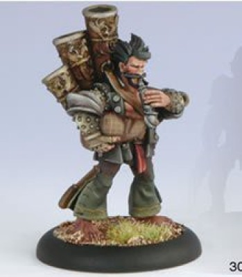 Privateer Press Mercenaries Rhupert Carvolo Piper Of Ord Model Kit
