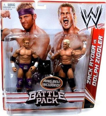 Mattel Wwe Series 18 Battle Pack Zach Ryder Vs Dolph Ziggler 2Pack