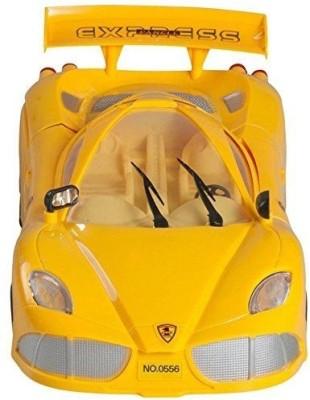 Rey Hawk AntiTerrorism Car With Flashing Light , Music & Opens Back (Yellow)